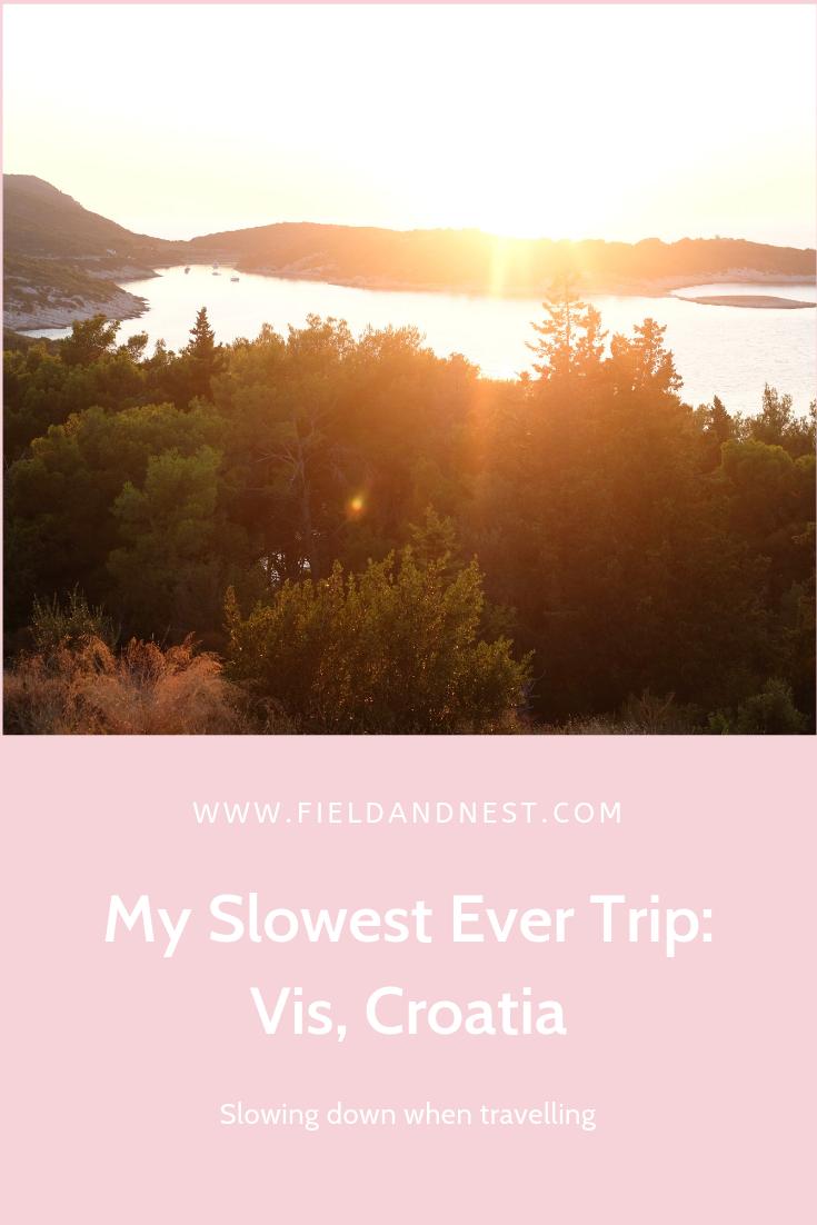 My Slowest Ever Trip: Vis, Croatia | Field + Nest