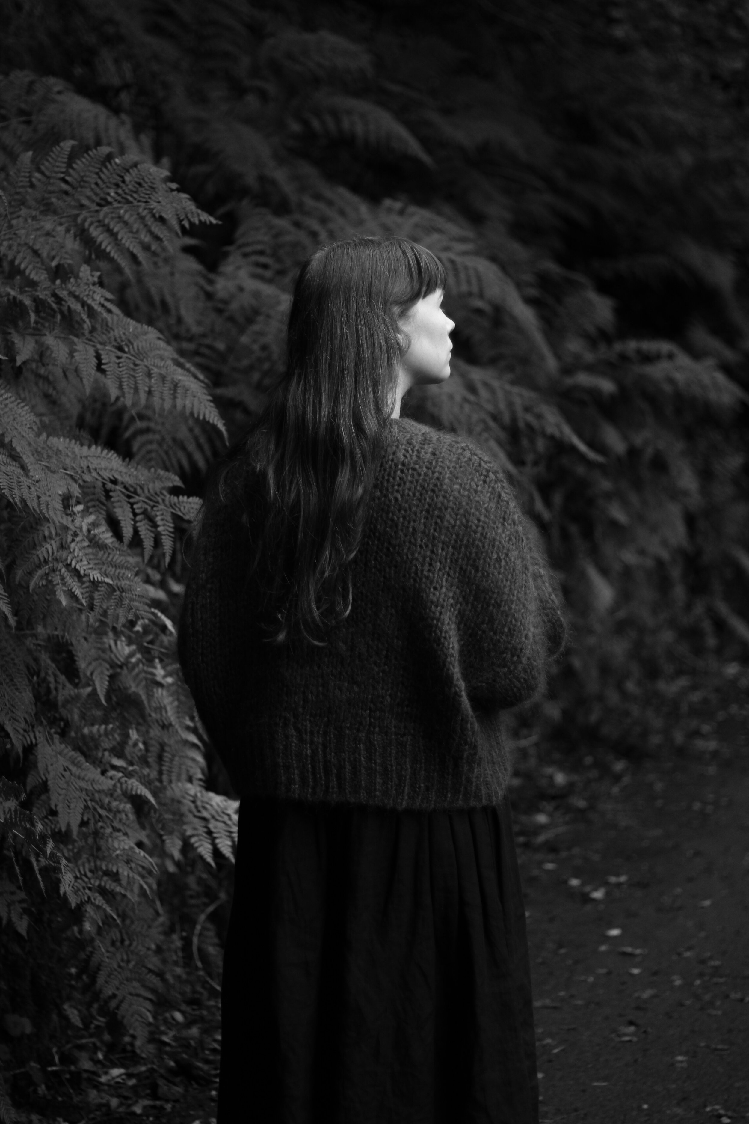 Black and white, girl in forest | Field + Nest