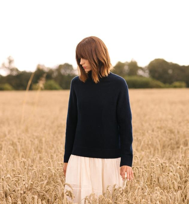 An Ethical & Sustainable Knitwear Directory   Navy Grey   Field + Nest