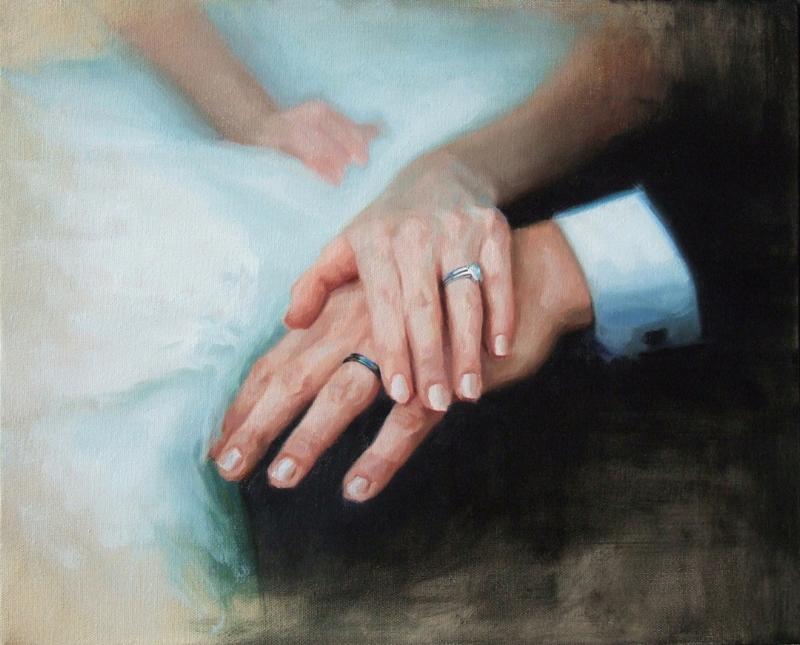 WEDDING HANDS 16x20