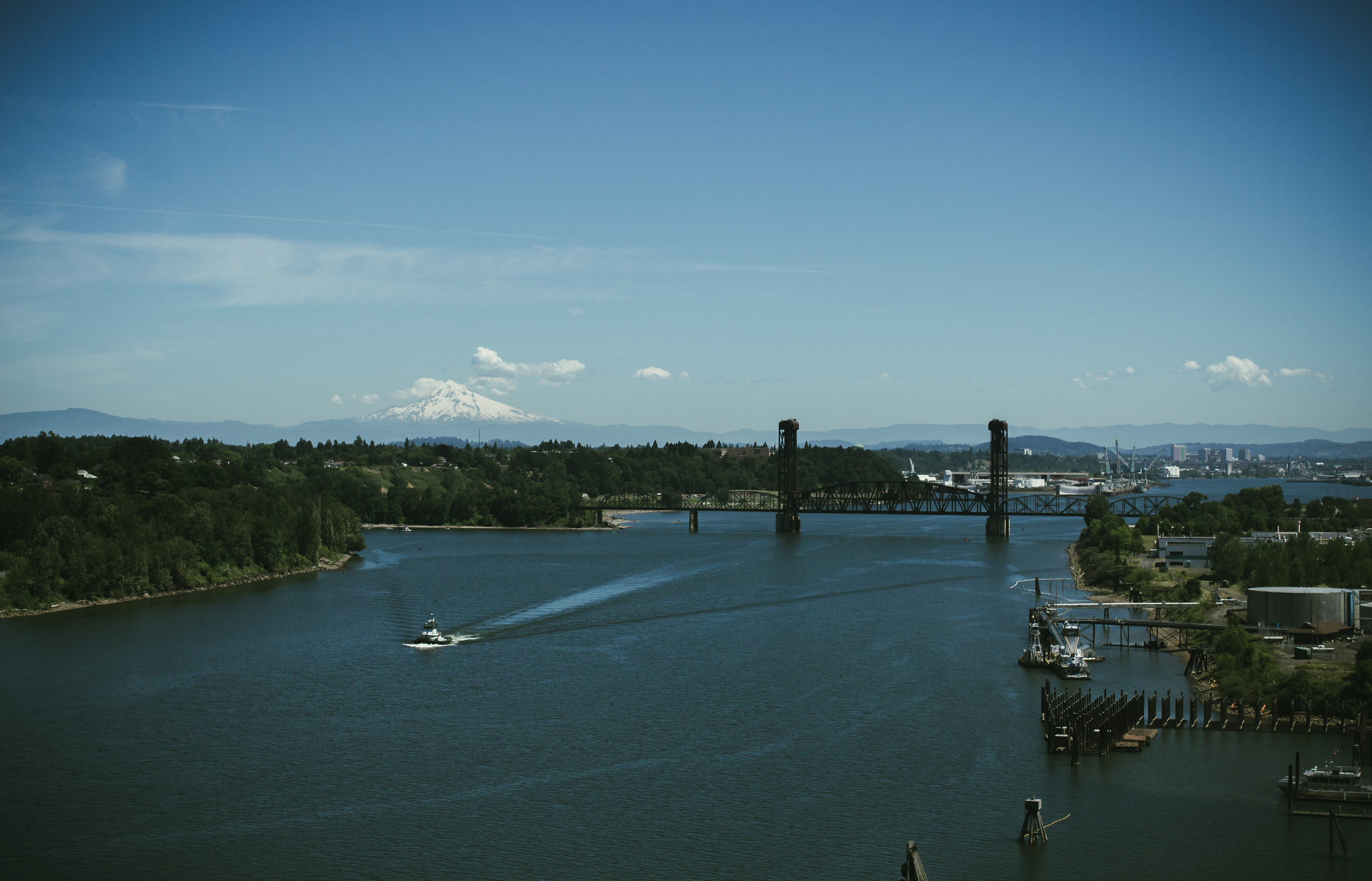 View from St. Johns Bridge.