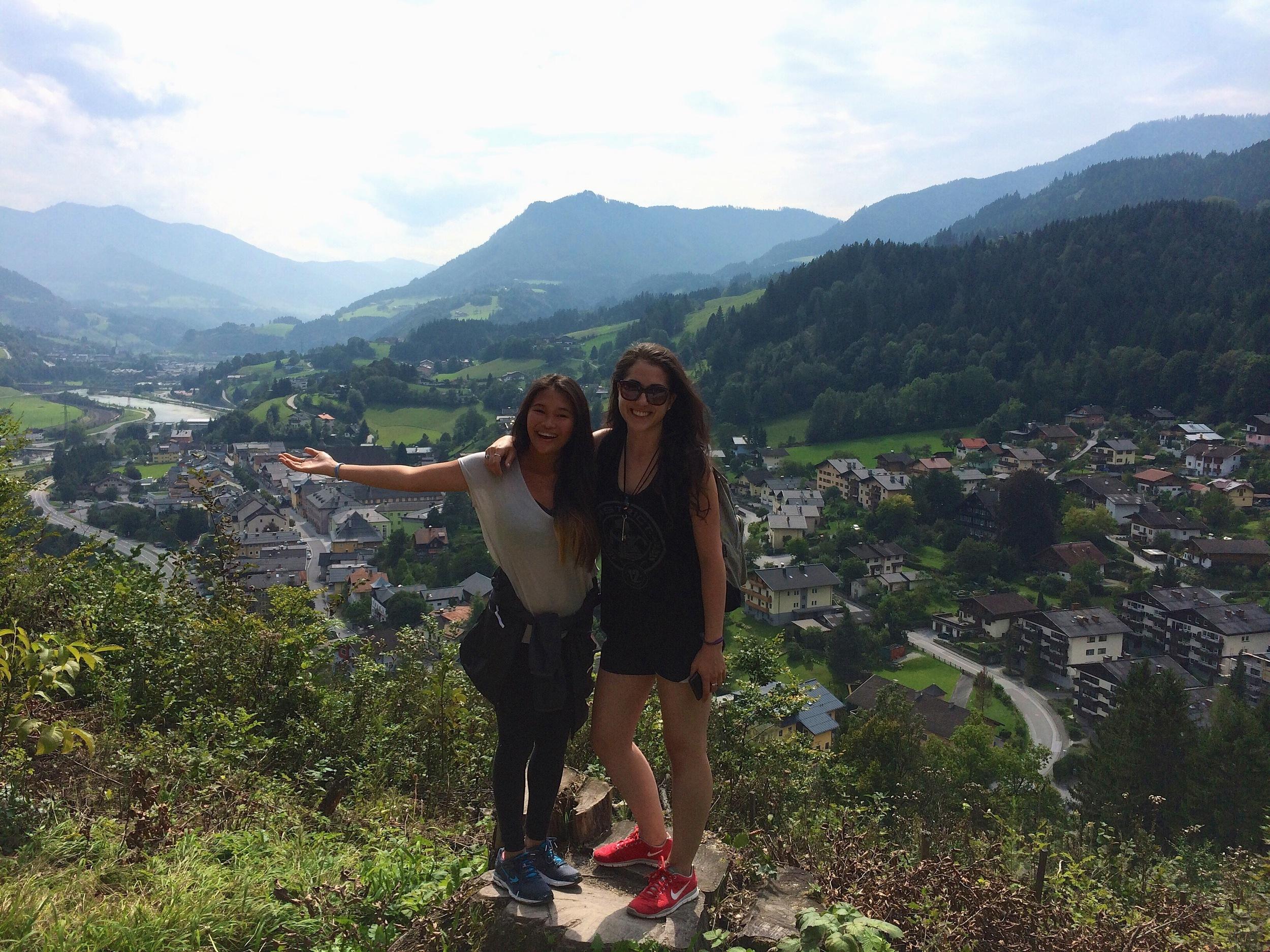 Marina & Pearl hike to Hohenwerfen Castle