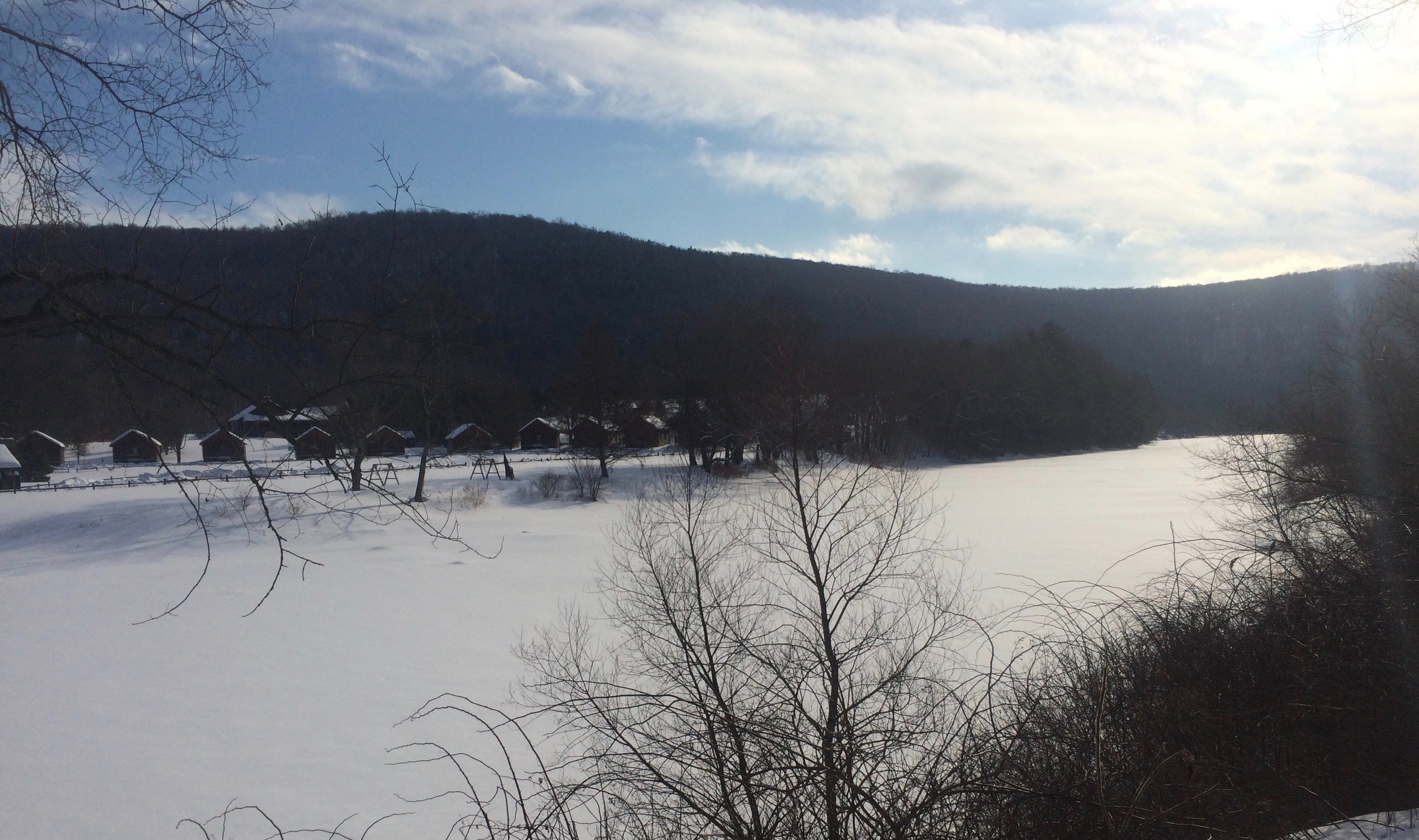 A frozen West Branch of the Delaware, February, 2015.