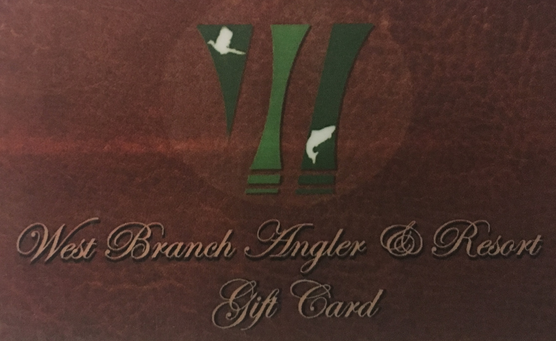Click here to order your West Branch Angler gift card!