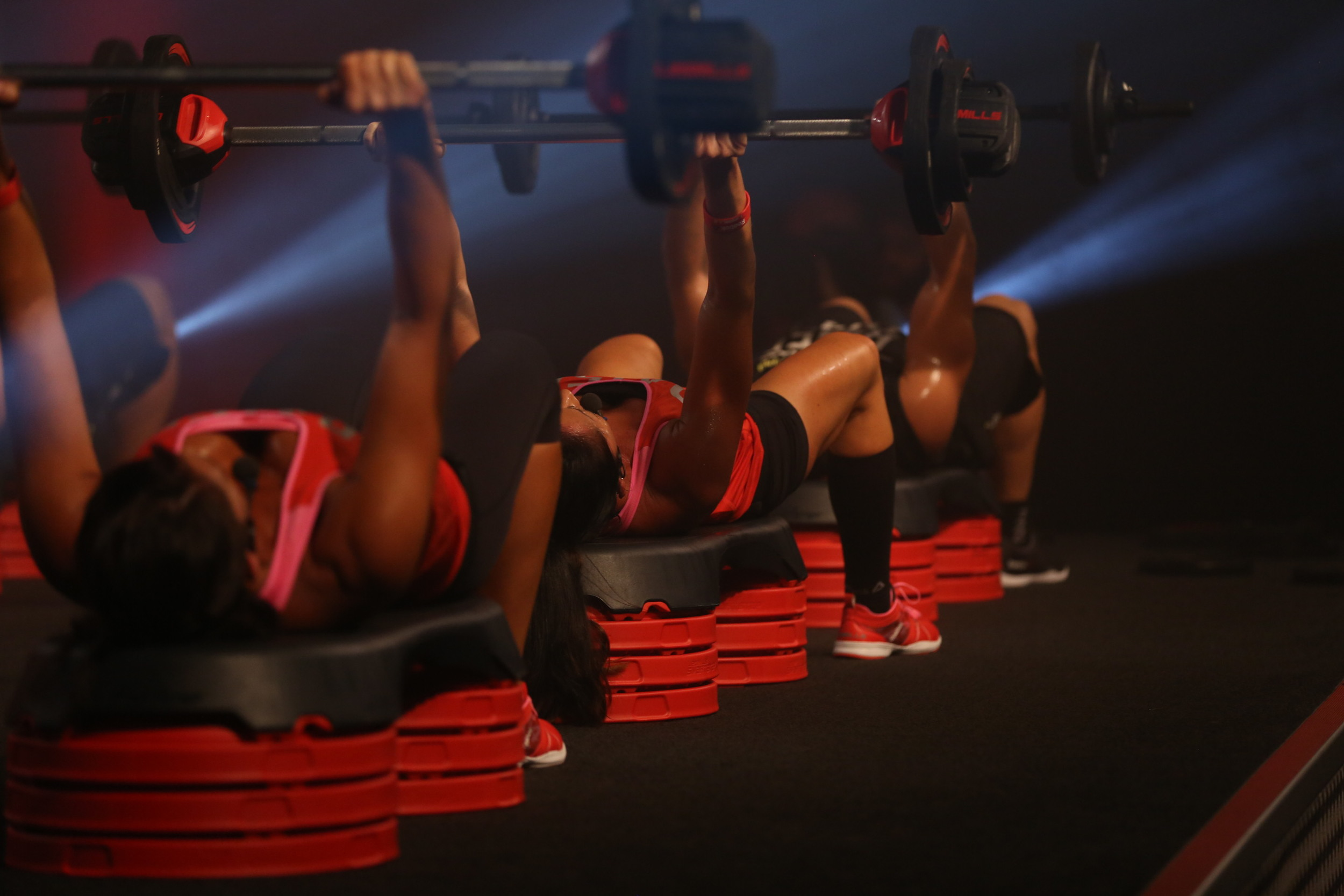 BODYPUMP™ is for anyone looking to get lean, toned and fit – fast.  Using light to moderate weights with lots of repetition, BODYPUMP gives you a total body workout. It will burn up to 590 calories*. Instructors will coach you through the moves and techniques pumping out encouragement, motivation and great music – helping you achieve much more than on your own! You'll leave the class feeling challenged and motivated, ready to come back for more. At Seacrest Fitness Co., we use the official Les Mills Smart Tech equipment for your PUMP pleasure!