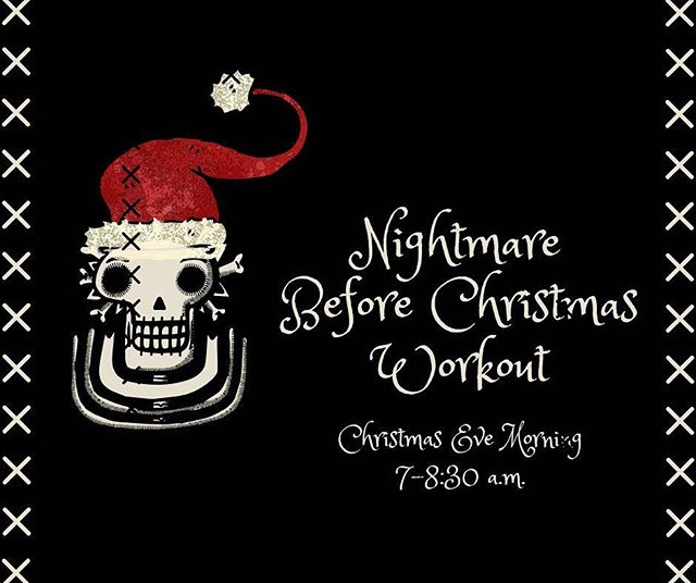 Sixty Participants. Three Studios. One Nightmare of a Workout. ☠️ #nightmarebeforechristmas