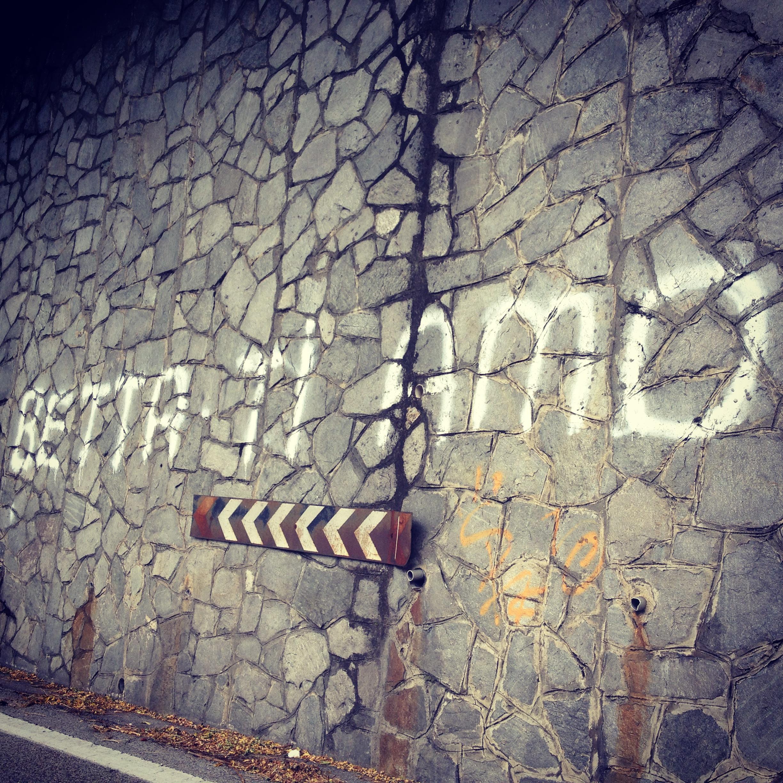 Italian love graffiti in San Marcello Pistoiese