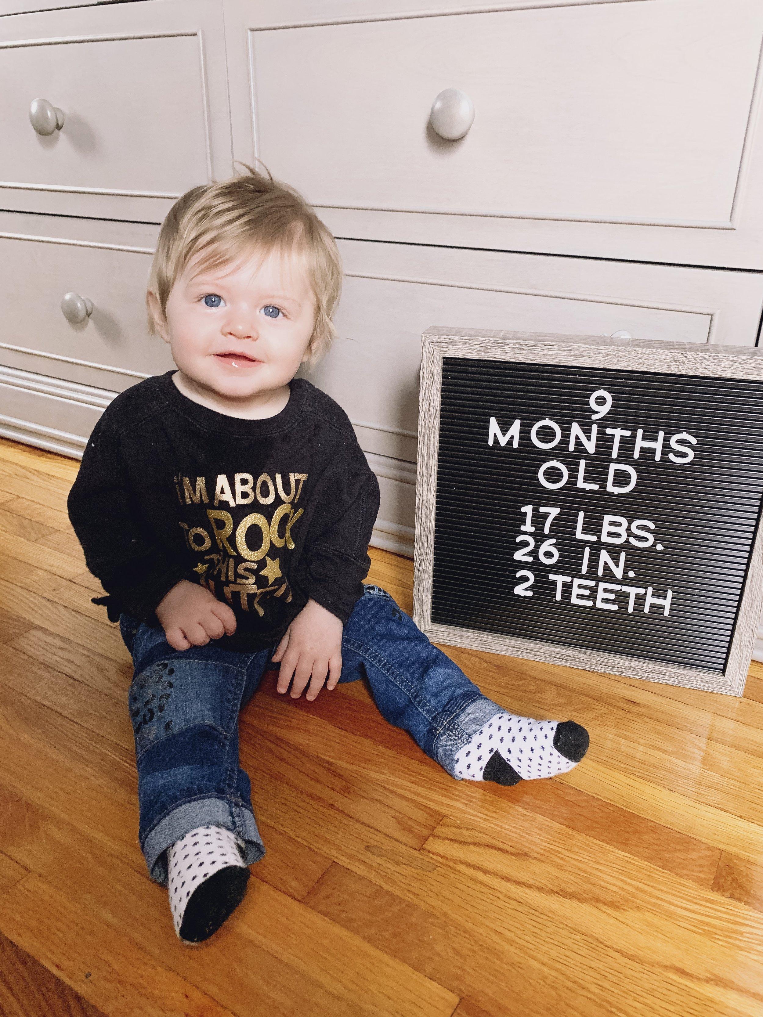 9 month milestone