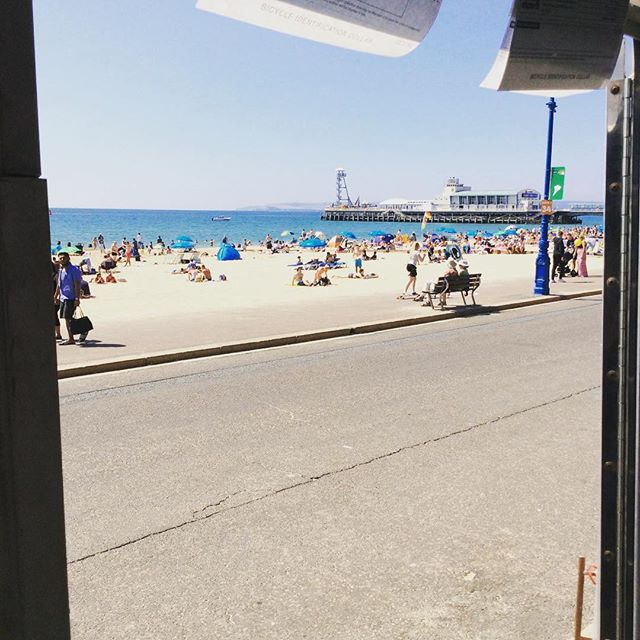 It's a beach kind of day. #bournemouthbeach #bournemouth #boscombebeach #sun #cycling #cyclehire
