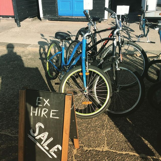 It's ex hire sale season!! Mountain bikes and cruisers galore. Free delivery in the Bournemouth area! #bargainhunt #exhire #cruiser #mtb #bournemouth #bournemouthbeach #cycling #cyclehire #electra #townie #trek