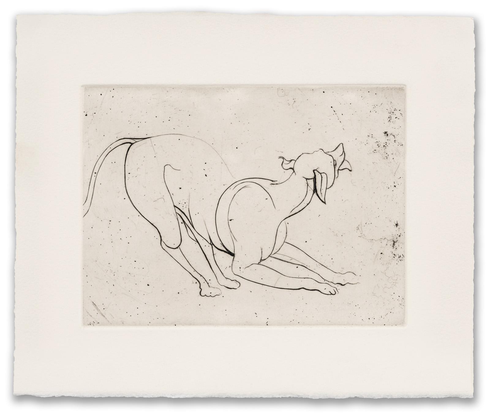 Francis West, (British 1936-2015), Crouching Dog, c.1979 (2017 Edition).