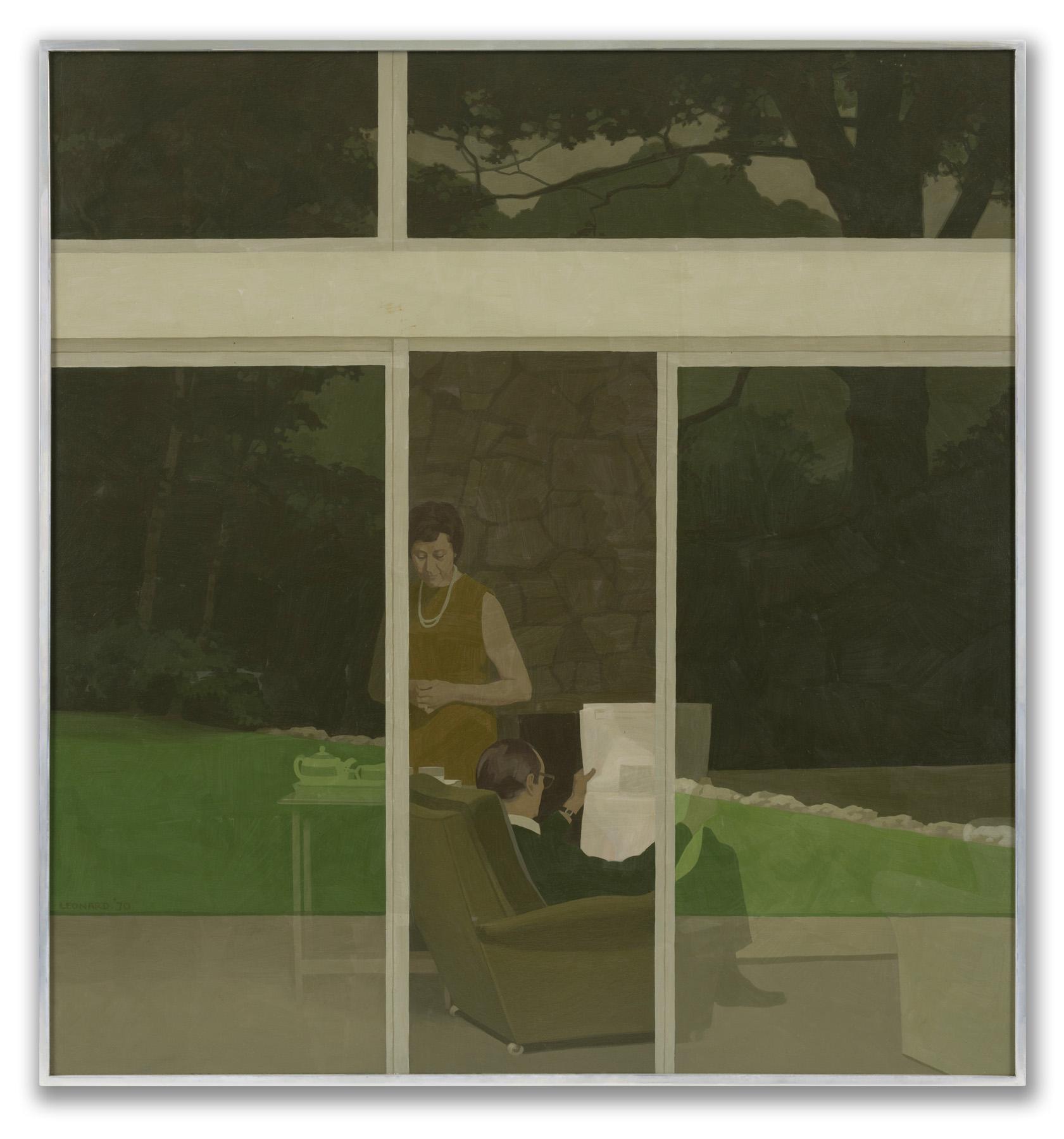 Michael Leonard, (British b.1933), Afternoon Tea, 1970.