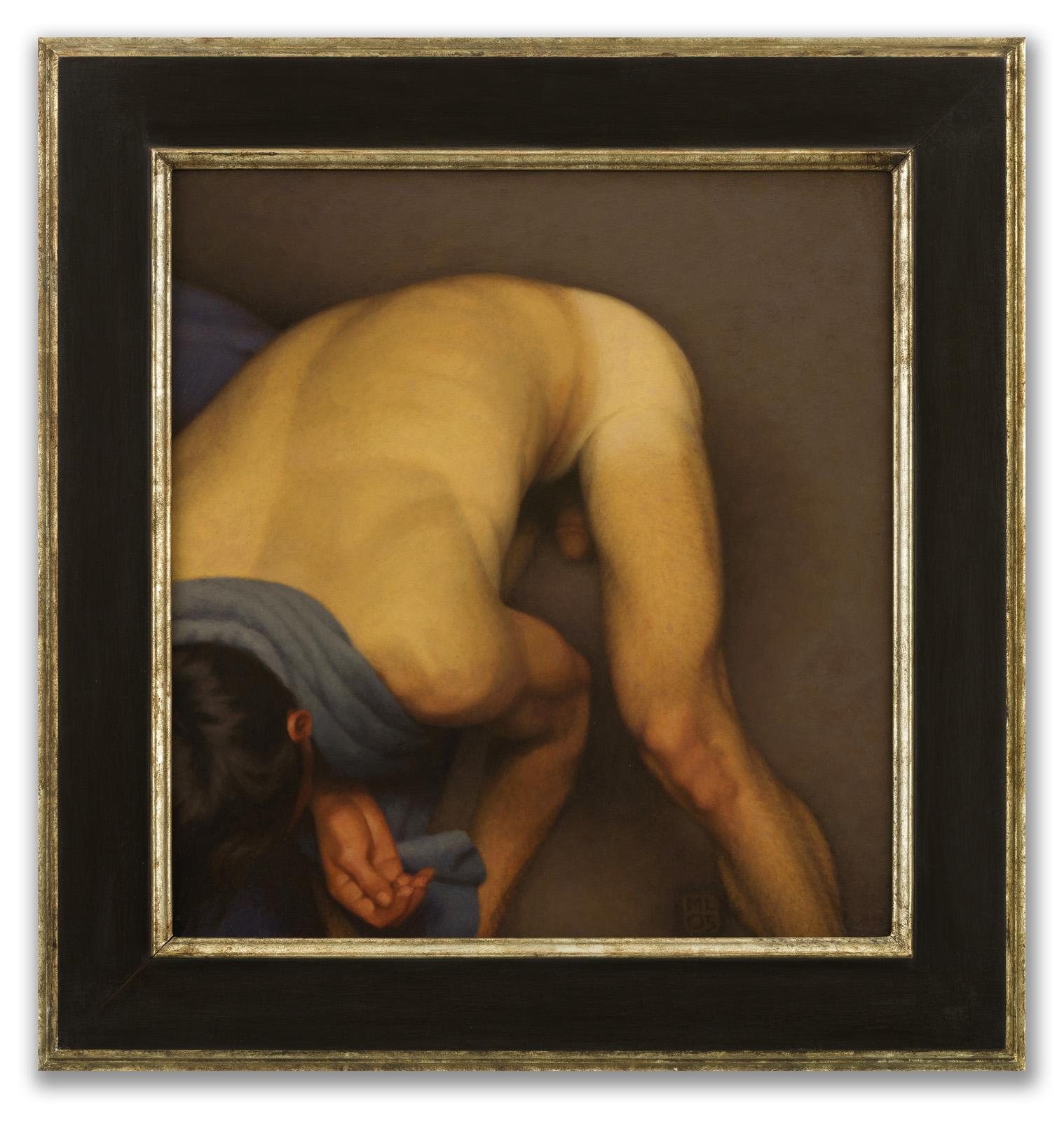 Michael Leonard, (British b.1933), Bather Stooping Low, 2005.
