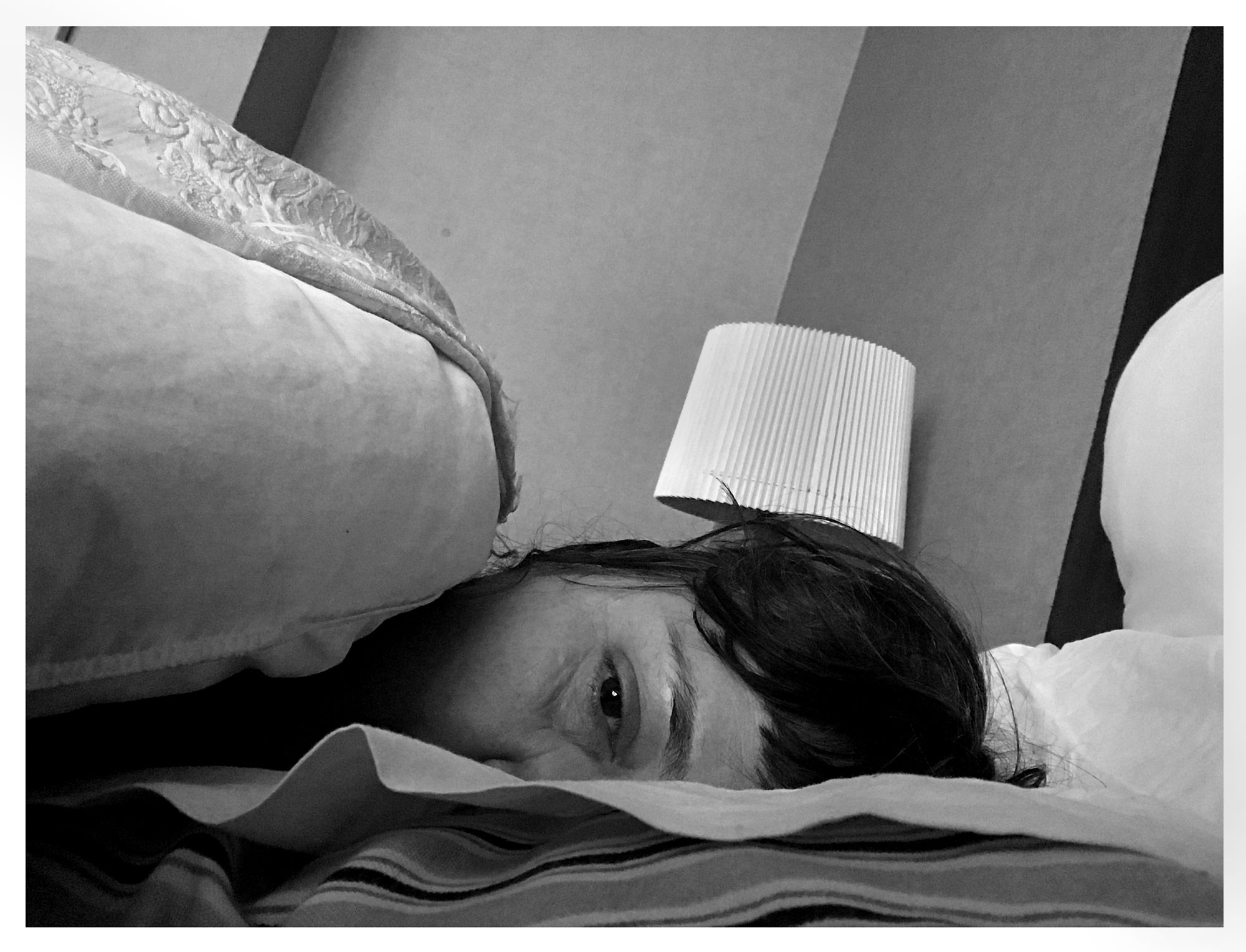 In bed on the day after Mum's funeral. My 47th birthday. 6th September 2017