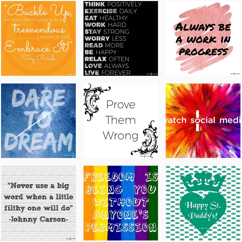 """Our logo is half-cropped out of the """"Dare to Dream"""" image, roughly 1/3 of the """"colorburst"""" logo image is missing, and our logo is entirely cropped out of the """"Freedom"""" image."""