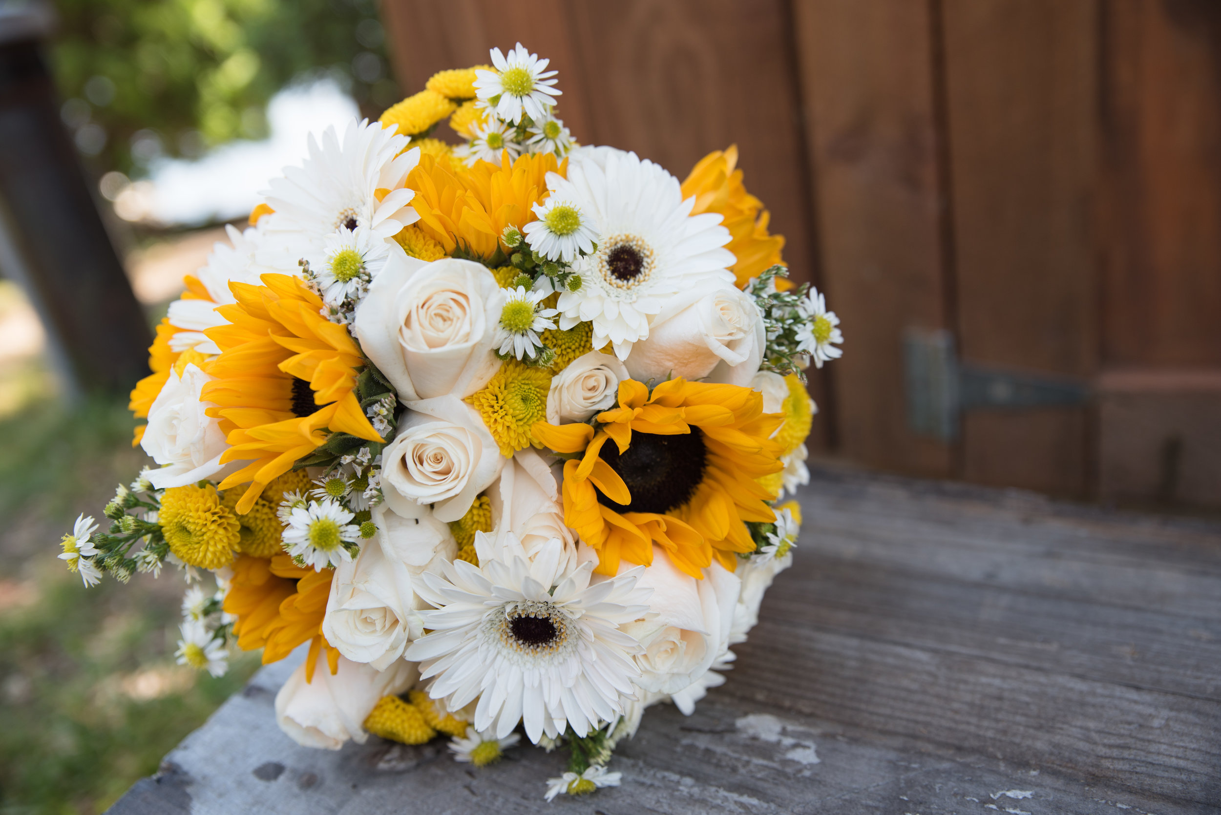 Lisa and Nate, weddings, Fall, Autumn, marriage, nature, October, Brian, Latham, wedding photography, rustic, woodsy, woods, DIY, Connecticut, Massachusetts, lake, sunflower, pond, yellow, simple, gorgeous, bouquet