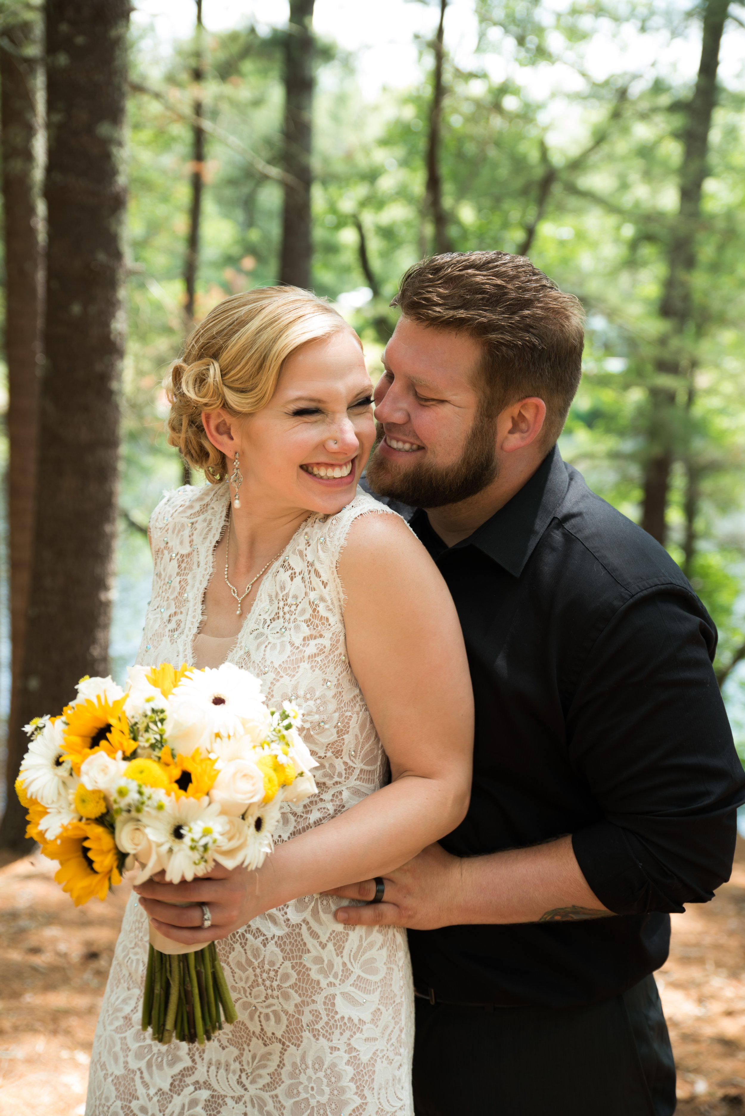 Lisa and Nate, weddings, Fall, Autumn, marriage, nature, October, brian, latham, wedding photography, rustic, woodsy, woods, DIY, Connecticut, massachusetts, lake, sunflower, pond, yellow, simple, gorgeous