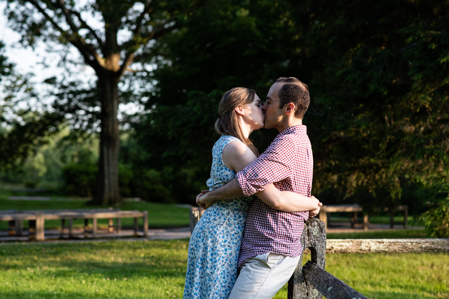 Heather and Chuck engagement at Old North Bridge, Concord, MA photographed by Kara Emily Krantz Photography.