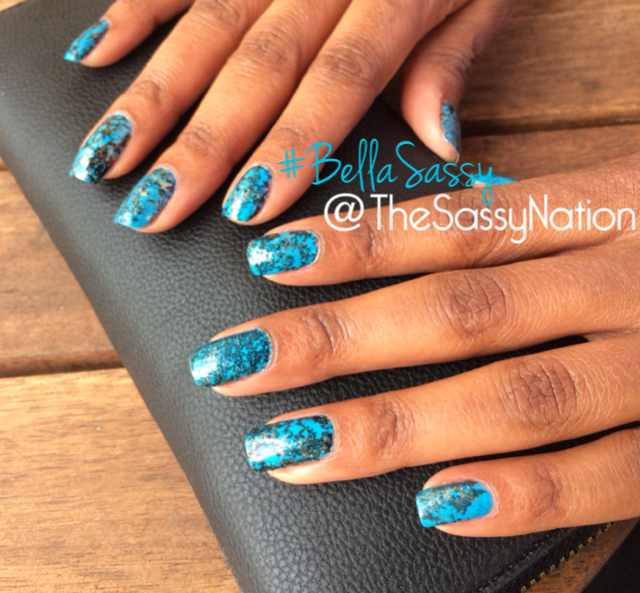 Bella Sassy Nails    How perfect are these nails for a summer date night? I call it a Turquoise Storm.   Rumor has it that turquoise attracts money, success & love. Its powers include protection, relaxation, healing, courage, friendship & luck. Basically everything that a Sassy BOSS Chic needs.   We're on The 'Gram… join  @TheSassyNation