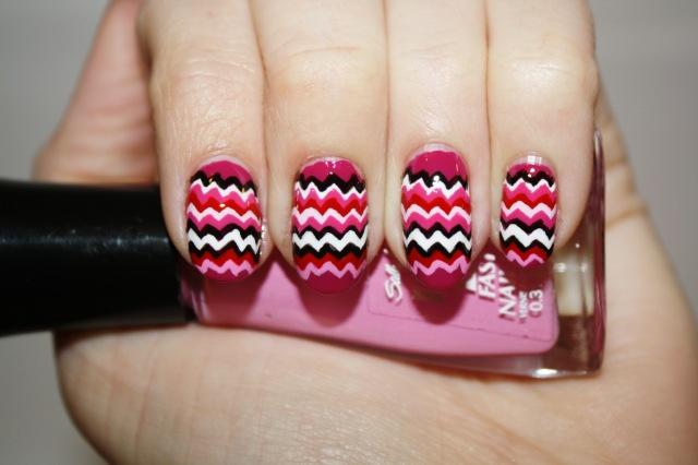 Bella Sassy Nails     via polishyoupretty :     Valentine's Missoni   Click the photo to see the full tutorial from Polish You Pretty!      Stay classy, join Sassy Nation     http://sassynation.tumblr.com     http://www.facebook.com/TheSassyNation     http://twitter.com/#!/SassyNation