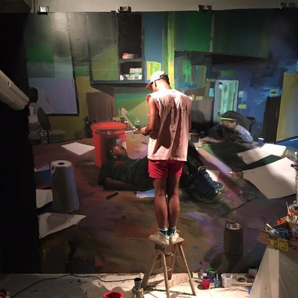 Christopher Paul Jordan in his studio.