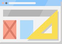 Representation of design tools to indicate a custom website design