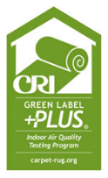 Look for this logo when shopping to find low-VOC carpet.