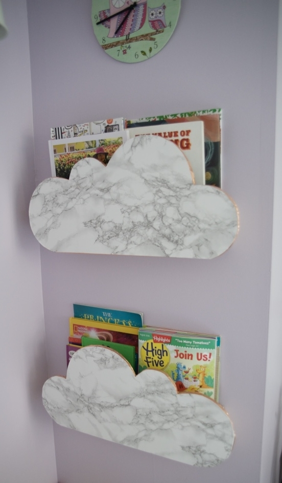 Cloud shelves are perfect for a  Purple Clouds  bedroom!
