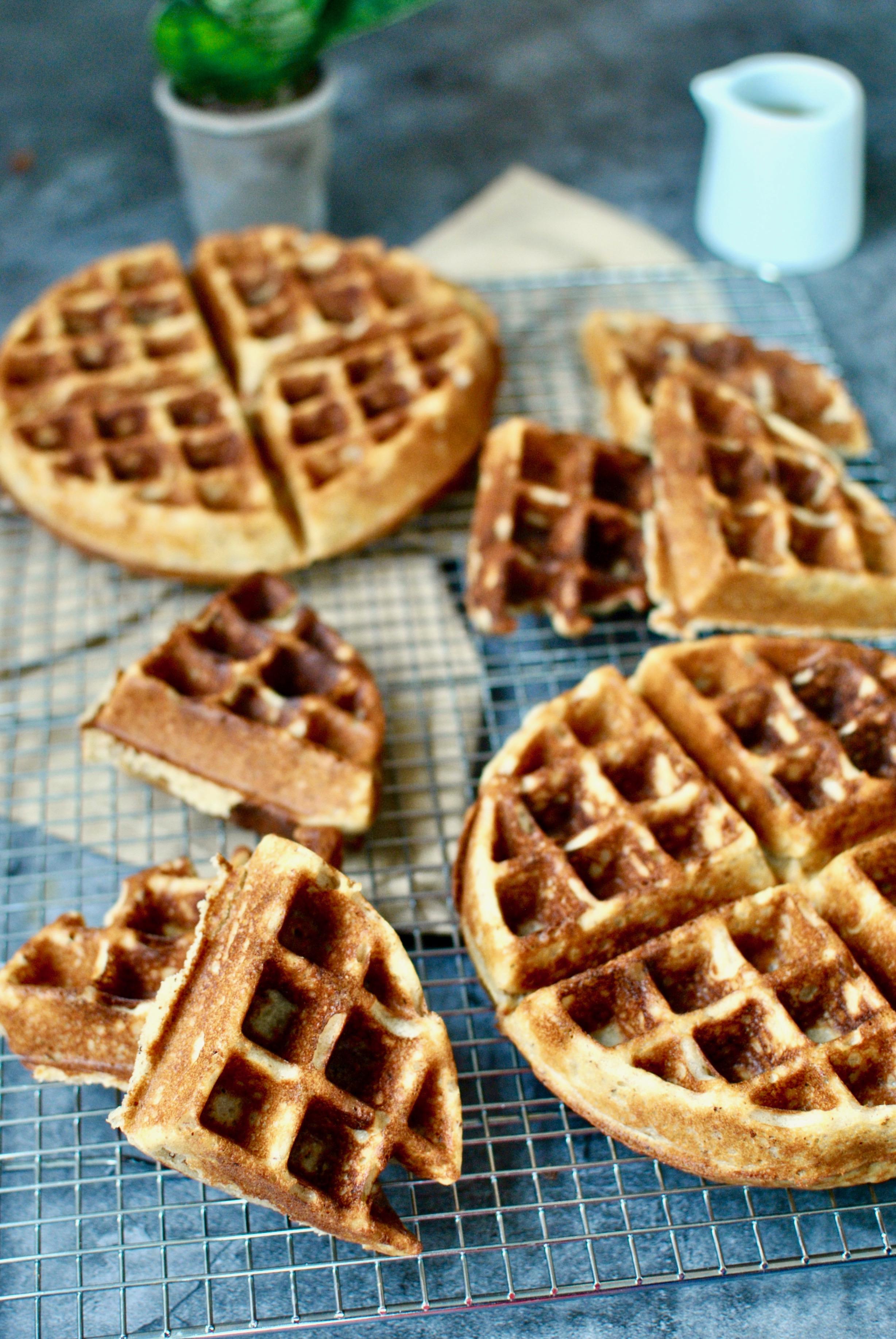 Crispy Hazelnut Waffles -