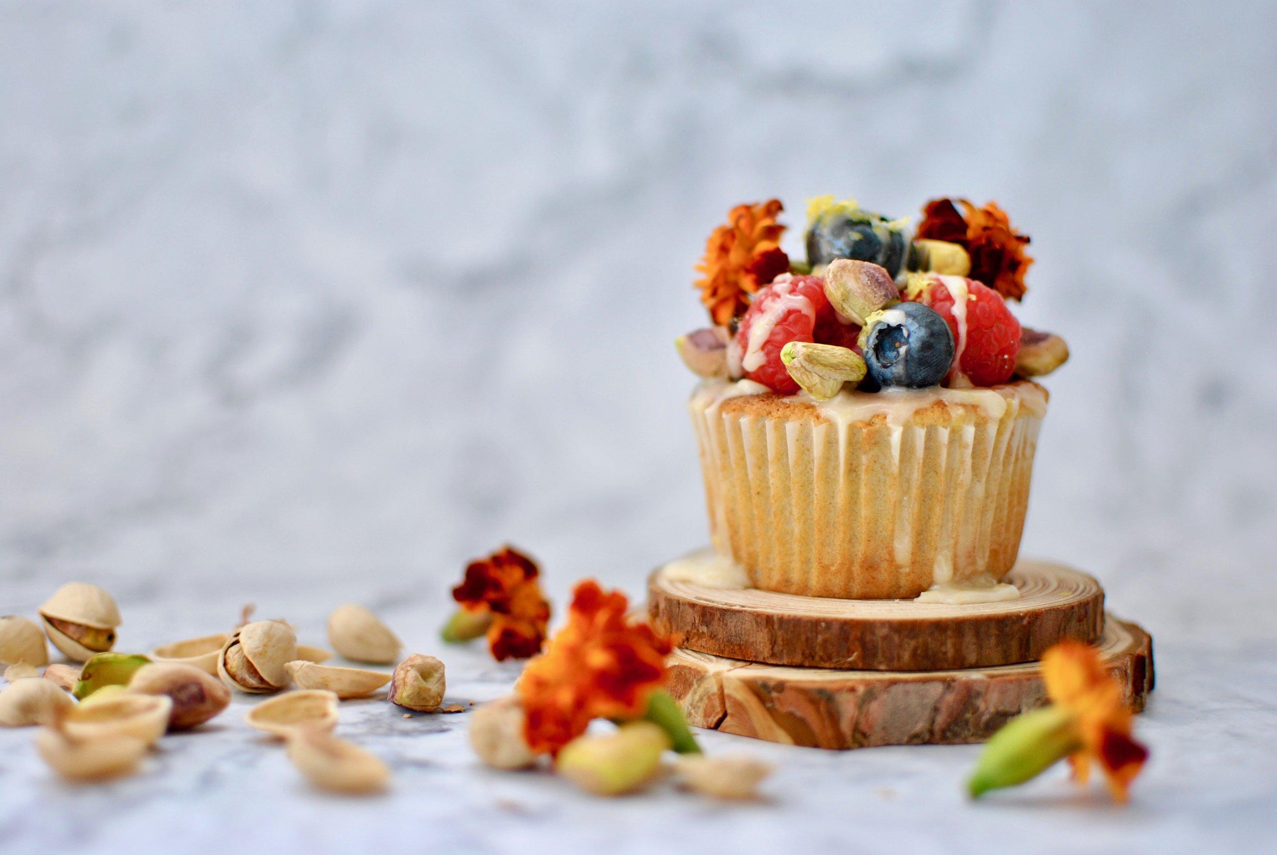 Cardamom pistachio muffins (GF, DF, Grain free) -