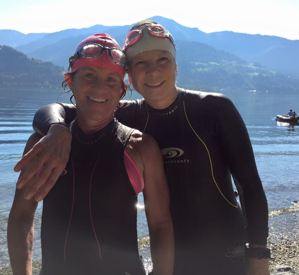 Coach Teresa and JP at 70.3 Worlds in Austria!