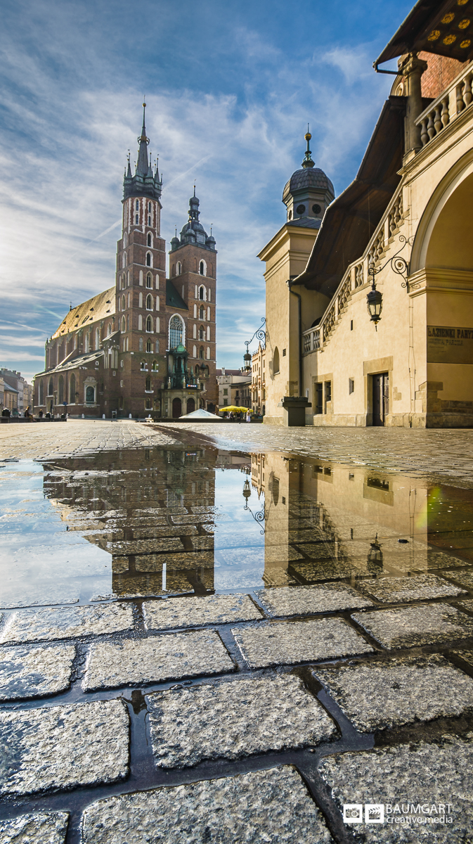 Old Town Market Square Krakow Poland. Photography by Jeff Baumgart Creative Media.
