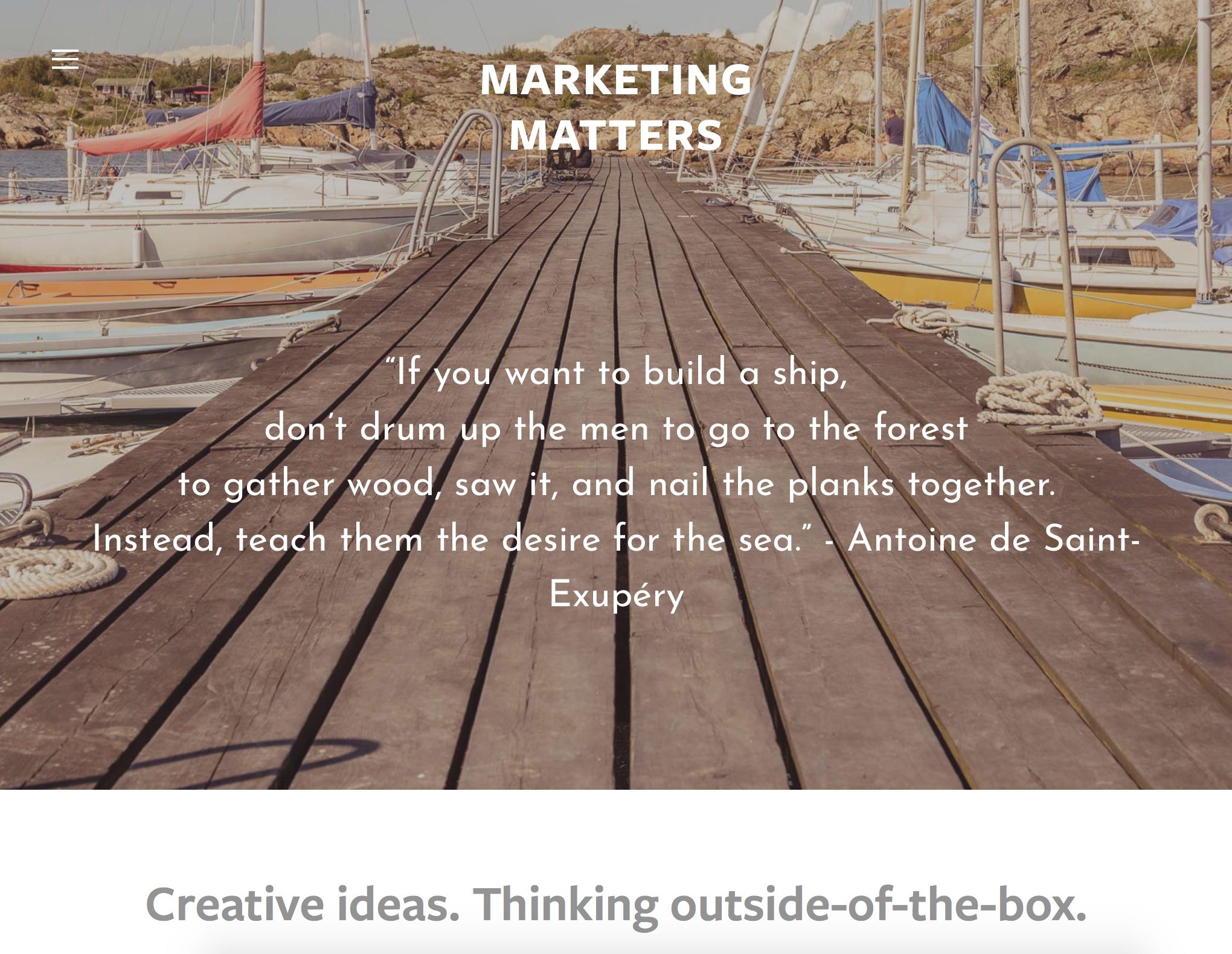 Marketing Matters
