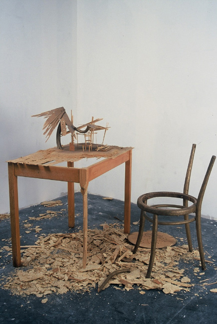 Unknown Island  2002  chair, table