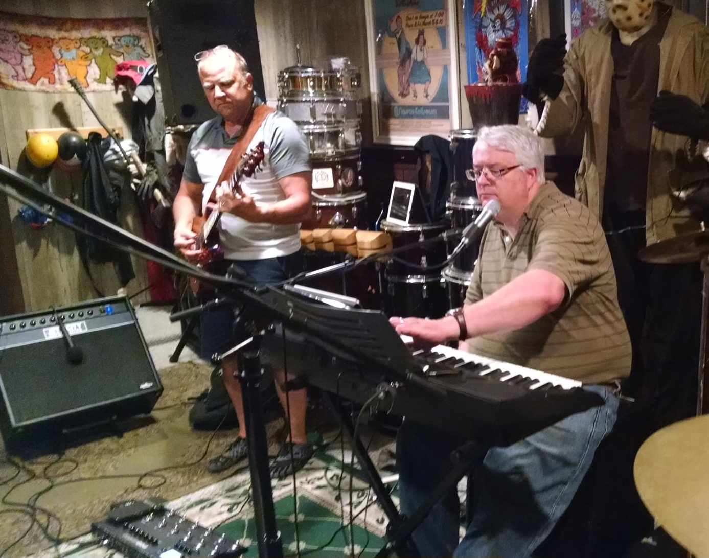Guitarist Steve Pavlosky and the author at an Any The Wiser rehearsal