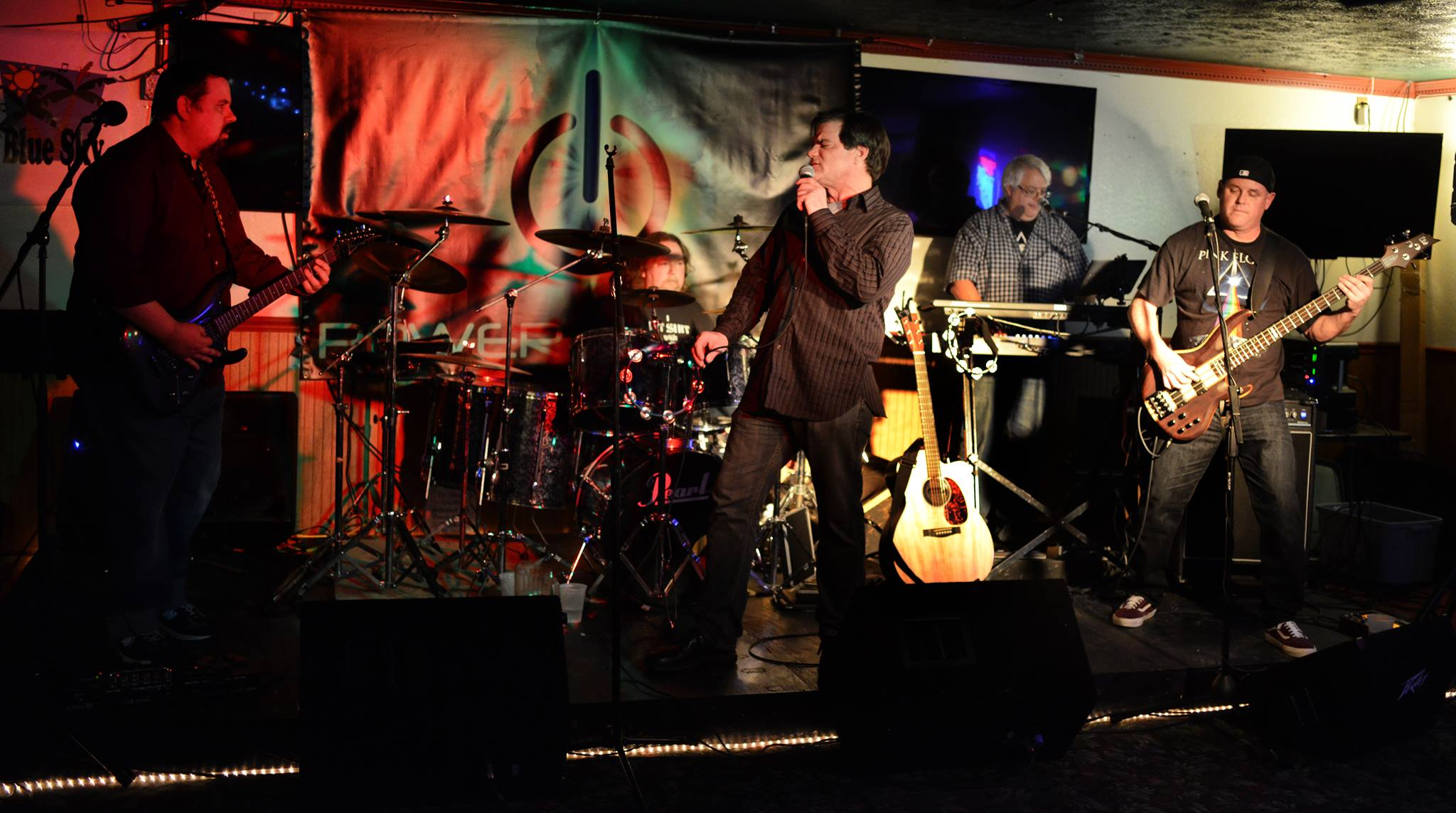 Power Project on stage at Blue Sky Bar & Grille