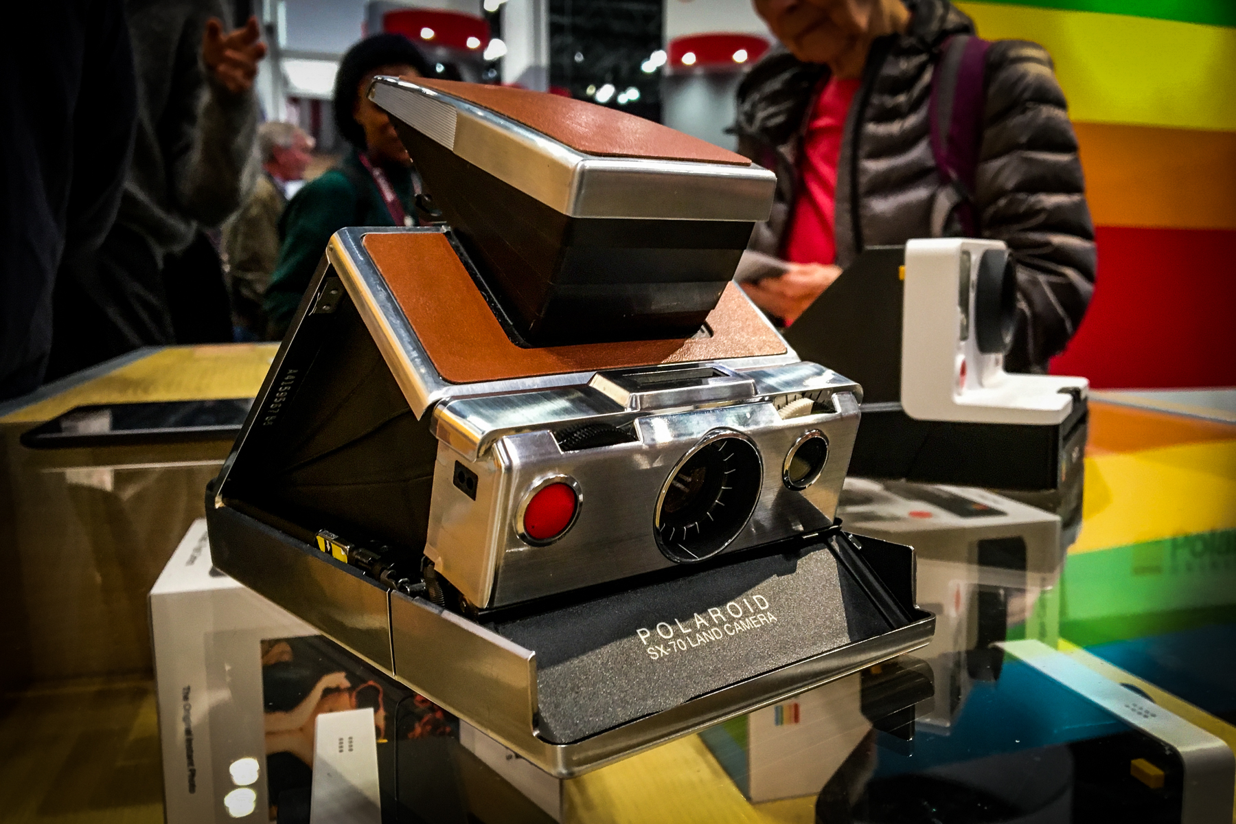 """If you ask me, nothing says """"cool"""" like a Polaroid SX-70"""