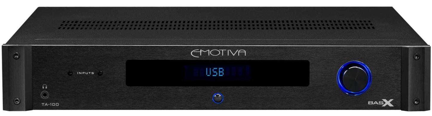 Emotiva TA-100 stereo receiver.