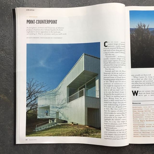 Nice write up of our #hillsiderock house in this months @arkansaslife magazine. Thanks to @kathleenbridges and the whole AL team for the the piece! 📸 by the great @timhursley  #architecture #mass #chunk #whiteonwhite #mineral #heavymetal #minimalism #maximalism
