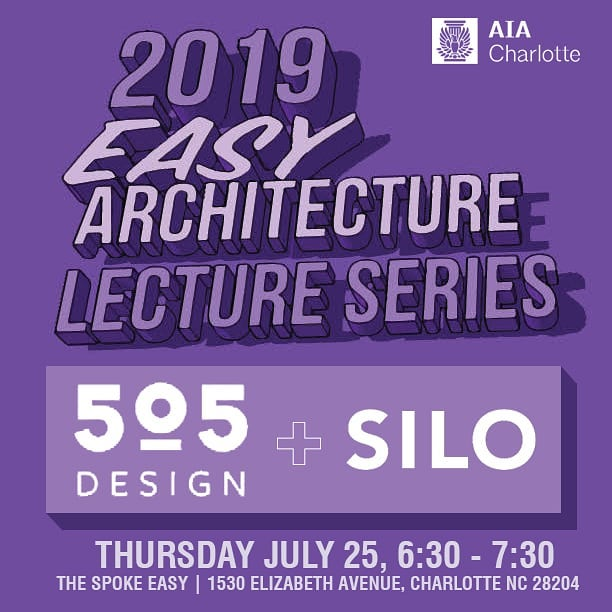 #Architecture + #Beer = #Fun. Tomorrow evening @thespokeasyclt SILO and 505 design will kickoff of the @aia_charlotte #Easy Architecture Lecture Series discussing award winning designs from Charlotte architects. Hope to see y'all there. Register  through AIAC website to receive CEU.