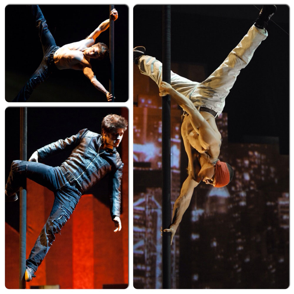A decidedly masculine acrobatic collage courtesy of BASE Entertainment Asia