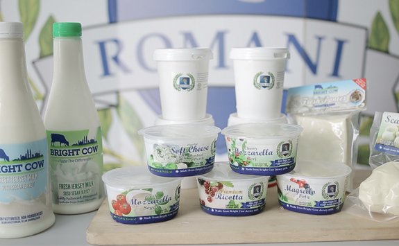 Bright Cow & Romani's product line - picture courtesy of Bright Cow Sdn Bhd