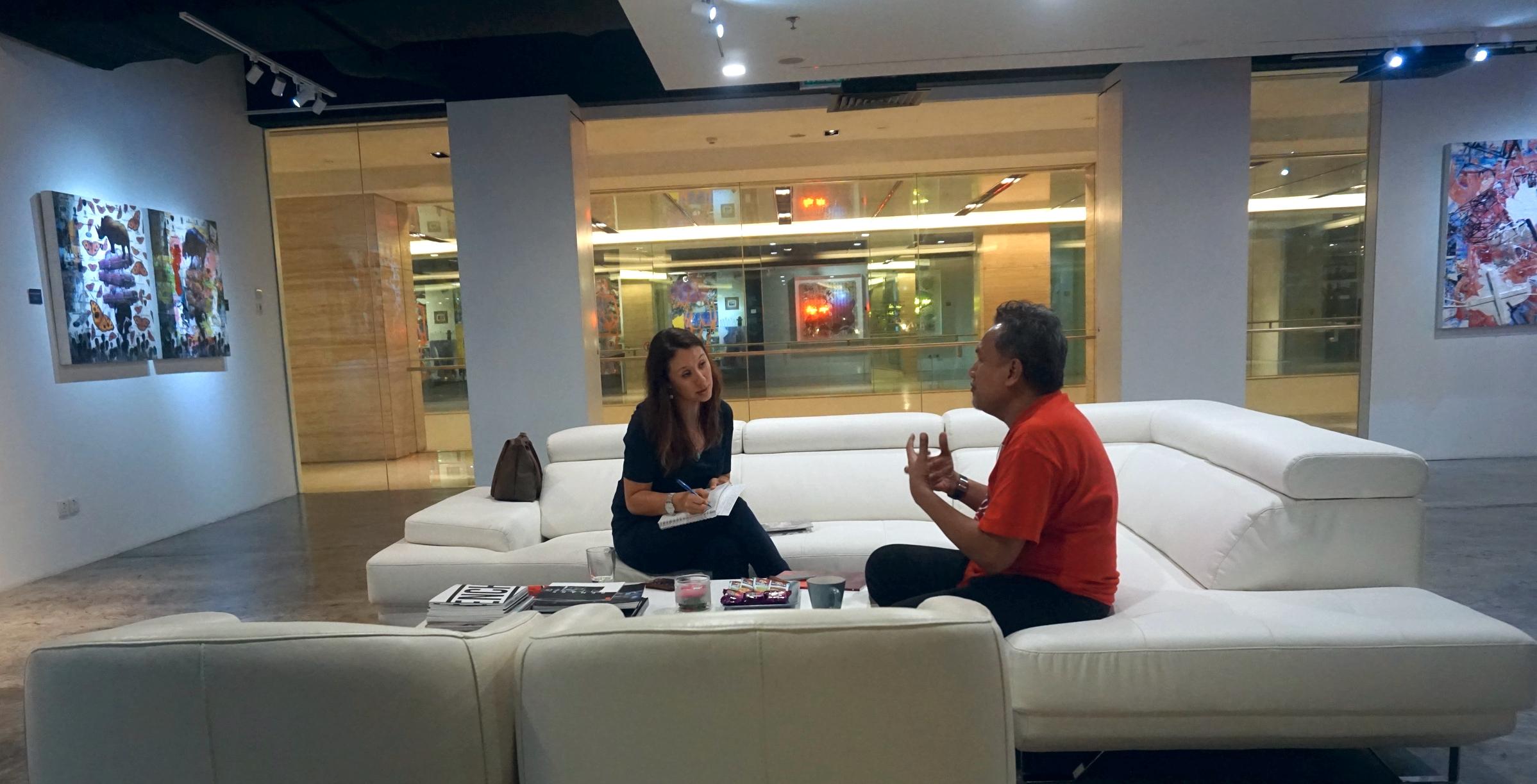 Suhimi Fadzir and Yiga in conversation at Artcube