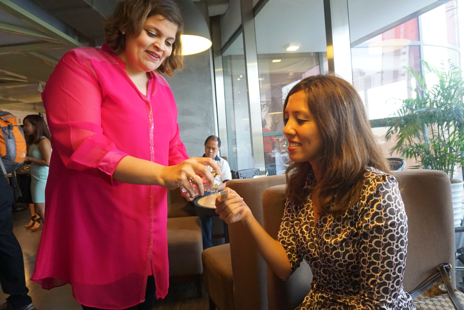 Sampling the fragrance at the Nyonya launch - M.A.D. restaurant