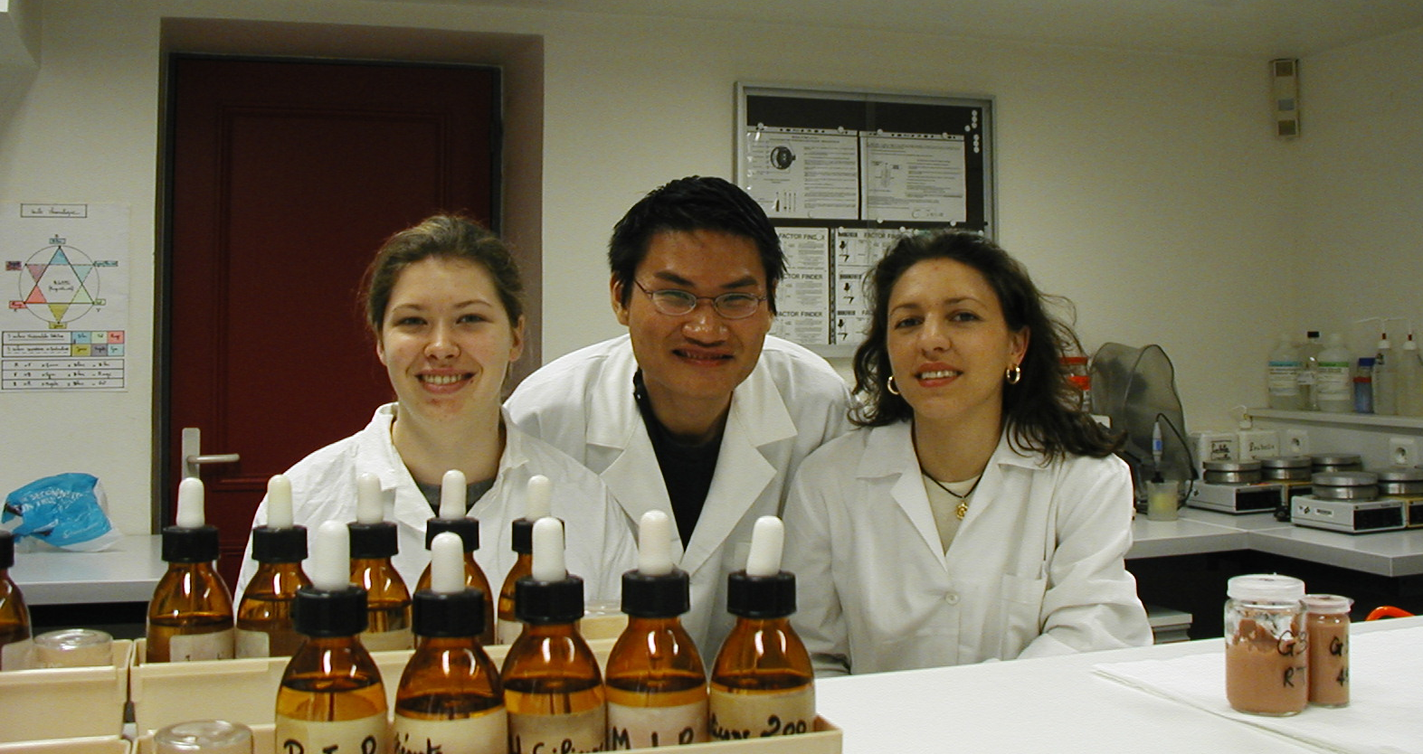 Josh together with his fellow classmates in one of the perfume labs at ISIPCA, Versailles-France.   Picture courtesy of Josh Lee .