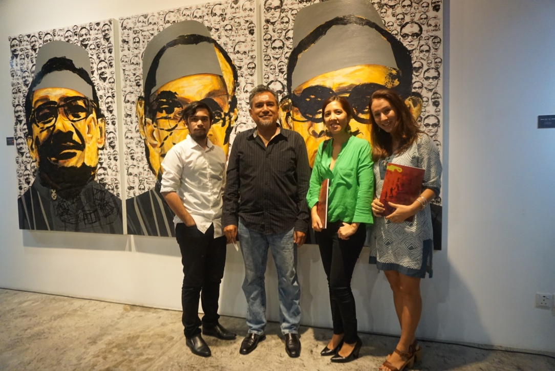 Amir Amin, Suhaimi Fadzir, Farena and Yiga at Bebas Launch