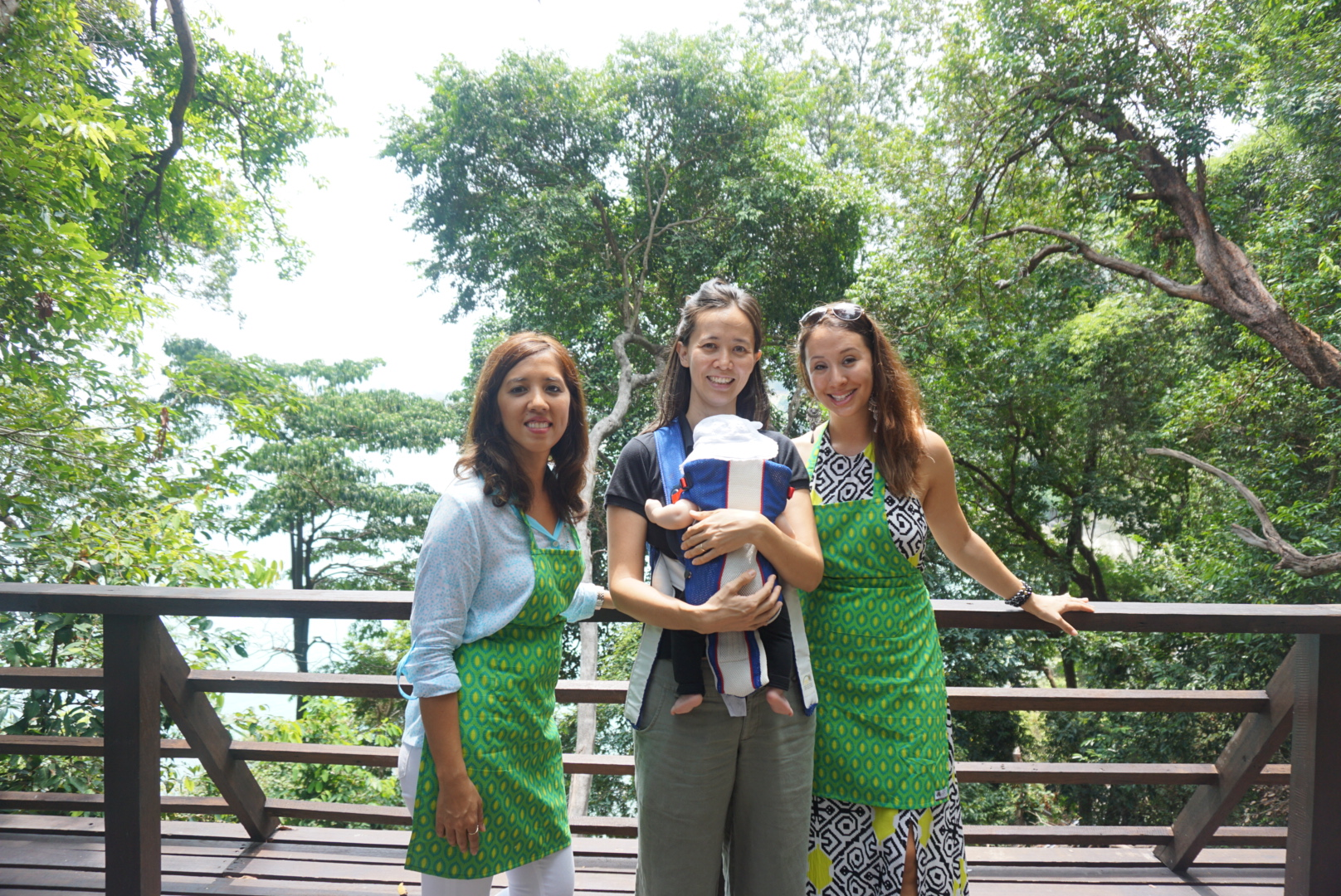 With Katharine Chua, the MD of Tropical Spice Garden, and her adorable daughter!