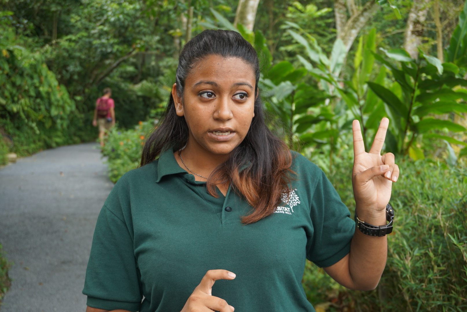 Shakira - one of the knowledgeable rangers at The Habitat