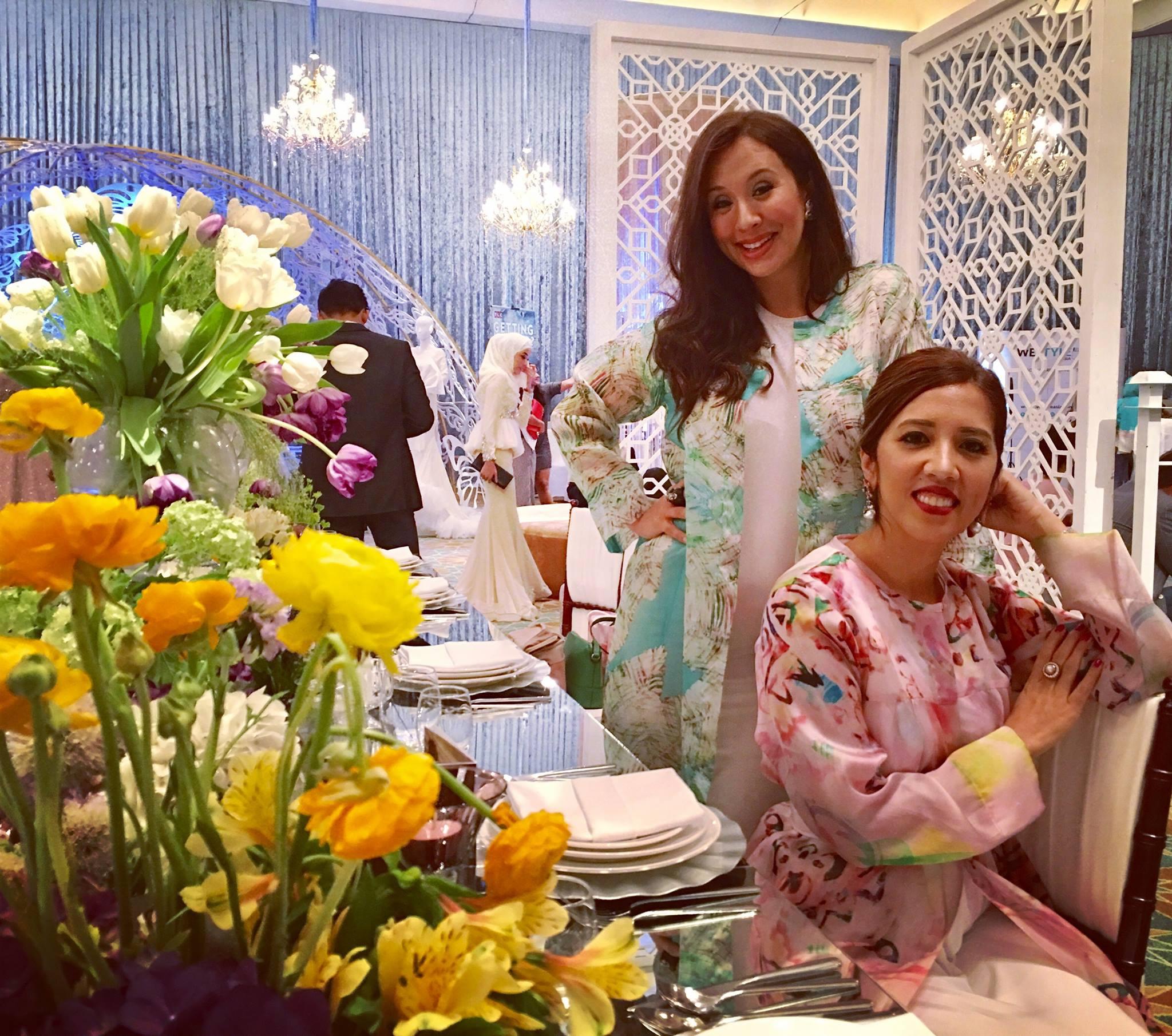 Batik&Bubbles wearing hand-painted batik outfits from Cosry Couture and Jewels courtesy of Lotus Arts de Vivre.
