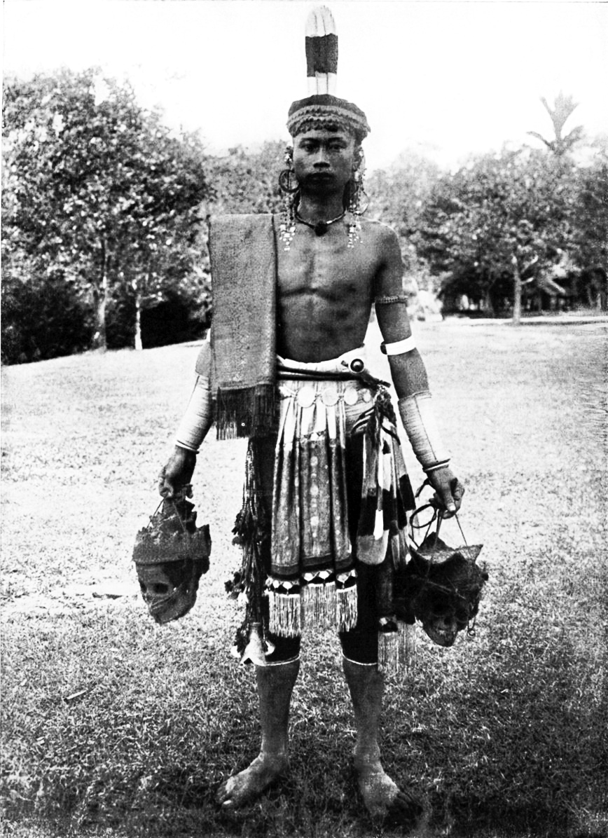 Dayak man in gala costume photographed by Charles Hose. Image courtesy of RFF 2017.